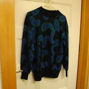 110. vintage blue and green sweater